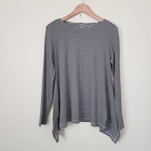 NWOT Westbound striped long sleeve top M